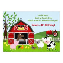 Farm Birthday Party Invitations Announcements Zazzle