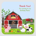 Barnyard Farm Animals Birthday Party Sticker
