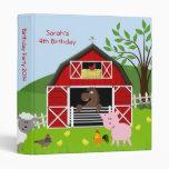 Barnyard Farm Animals Birthday Photo Album 3 Ring Binder