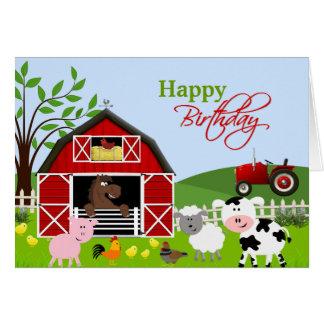 Barnyard Farm Animals Greeting Card