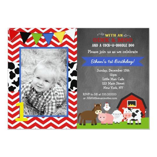 barnyard farm birthday party invitations zazzle com
