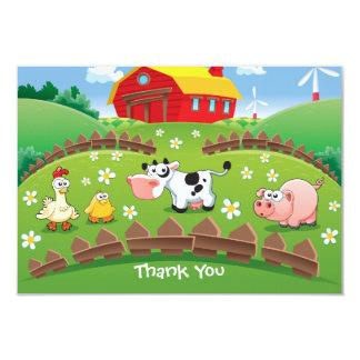 Barnyard Farm Birthday Thank You Card