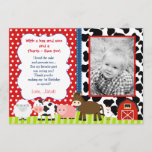 """Barnyard Farm Birthday Thank You Note Cards<br><div class=""""desc"""">Barnyard Farm Birthday Thank You Note Cards with Photo</div>"""