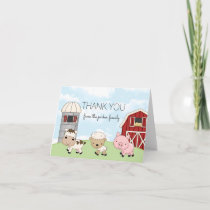 Barnyard Farm Thank You Note Card │ Folded