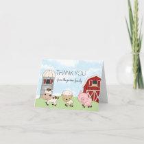 Barnyard Farm Thank You Note Card │ Folded