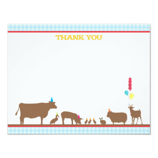 Barnyard Flat Thank You Note 4.25x5.5 Paper Invitation Card