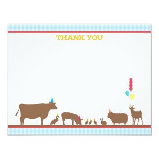 Barnyard Flat Thank You Note Card
