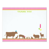 Barnyard Flat Thank You Note Card