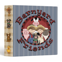 Barnyard Friends Avery Binder