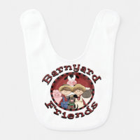Barnyard Friends Baby Bib