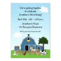 Barnyard Friends Birthday Invitation