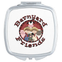 Barnyard Friends Compact Mirror