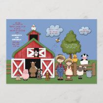 Barnyard Friends Invitation