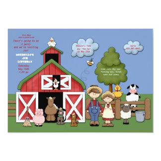 "Barnyard Friends Invitation 5"" X 7"" Invitation Card"
