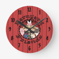Barnyard Friends Kids Wall Clock