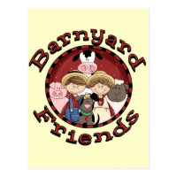 Barnyard Friends Postcard