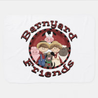 Barnyard Friends Swaddle Blanket