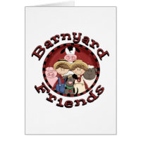 Barnyard Friends Tshirts and Gifts Card