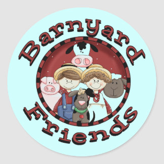 Barnyard Friends Tshirts and Gifts Classic Round Sticker