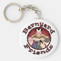 Barnyard Friends Tshirts and Gifts Keychain