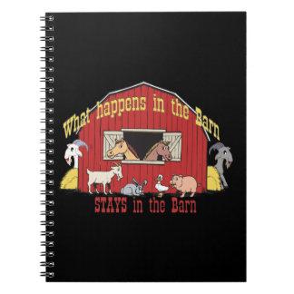 Barnyard Goat Spiral Notebook
