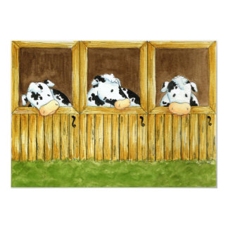 Barnyard Grapevine Invitation