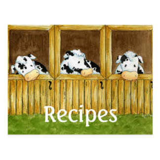 Barnyard Grapevine Recipe Card