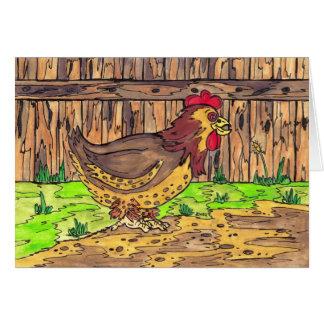 Barnyard Hen Card