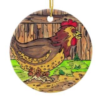 Barnyard Hen Ornament ornament