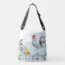 Barnyard image Rooster and Hann good old days Tote