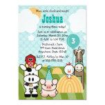 """Barnyard Party Farm Birthday Invitations Any Age 5"""" X 7"""" Invitation Card"""