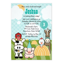 Barnyard Party Farm Birthday Invitations Any Age