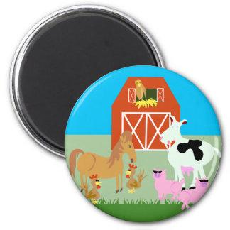 Barnyard Party Fridge Magnets