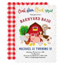 Barnyard, Petting Zoo, Farm Animals, Birthday Invitation