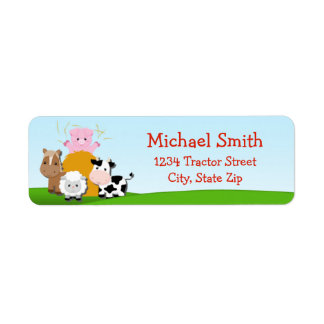 Barnyard Return Address Label