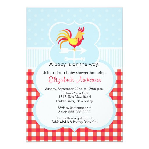 Barnyard Baby Shower Invitations with great invitations example
