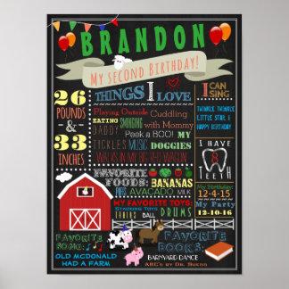 Barnyard Second Birthday Poster