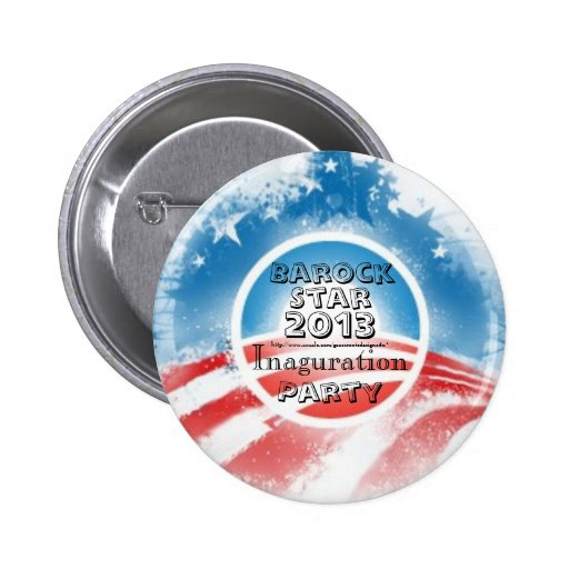 Barock Star President Obama Inauguration Party Buttons