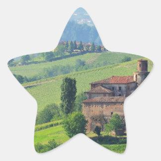 Barolo castello Volta Star Sticker