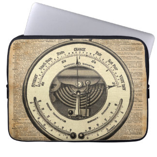 Barometer Vintage Tool Dictionary Art Laptop Sleeve