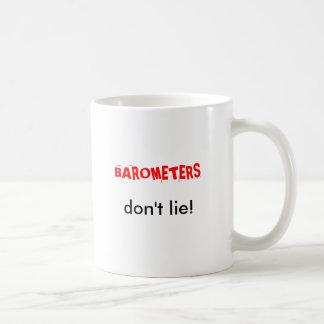BAROMETERS, don't lie! Classic White Coffee Mug