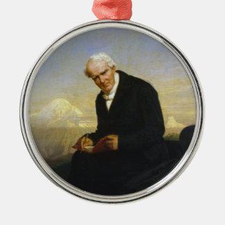 Baron Alexander von Humboldt by Julius Schrader Metal Ornament