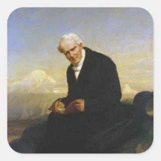 Barón Alexander von Humboldt de Julio Schrader Pegatina Cuadrada