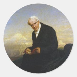 Barón Alexander von Humboldt de Julio Schrader Pegatina Redonda