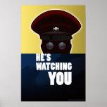 "Baron Crossbones--""He's Watching You"" poster"