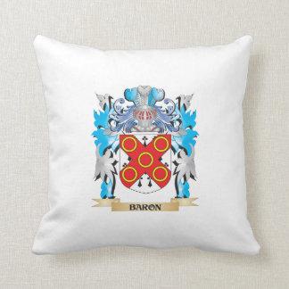 Barón escudo de armas almohadas