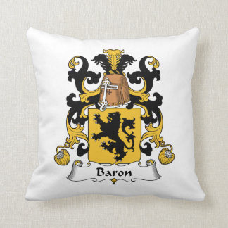 Barón Family Crest Cojines