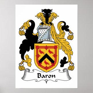 Barón Family Crest Impresiones