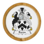 Baron Family Crest Round Cheeseboard
