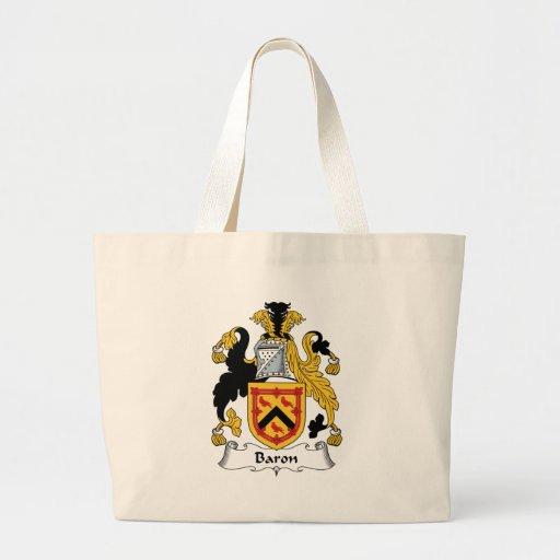 Baron Family Crest Tote Bag